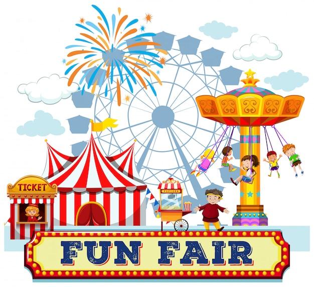 Uma feira de diversões e passeios