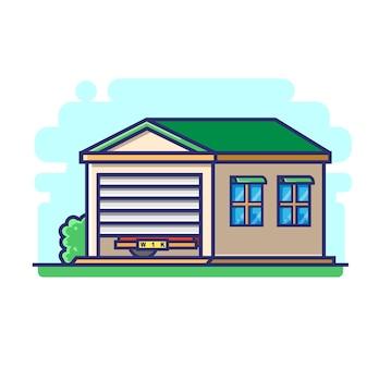 Uma garagem