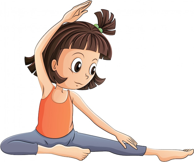Uma garota fazendo yoga