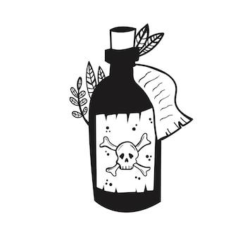 Uma garrafa de poção de bruxa venenosa