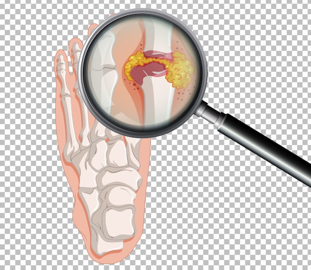 Uma gota humana no fundo transparente