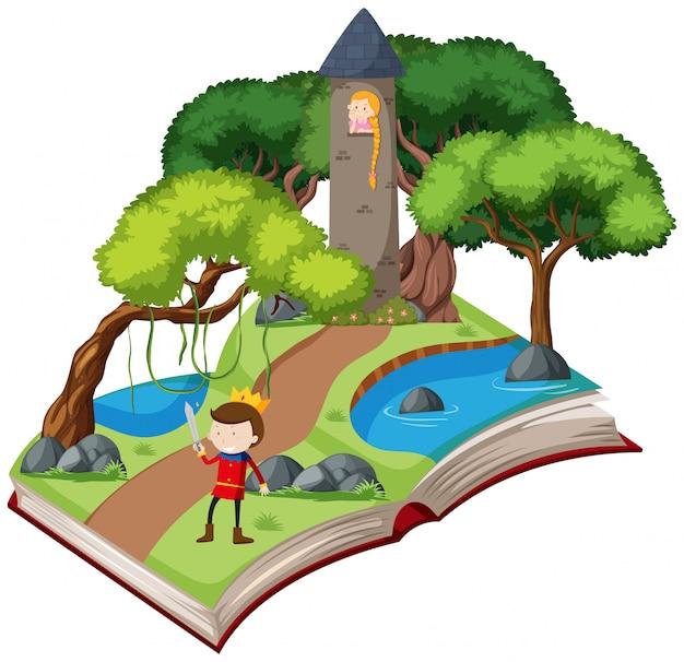 Uma história de conto de fadas de livro