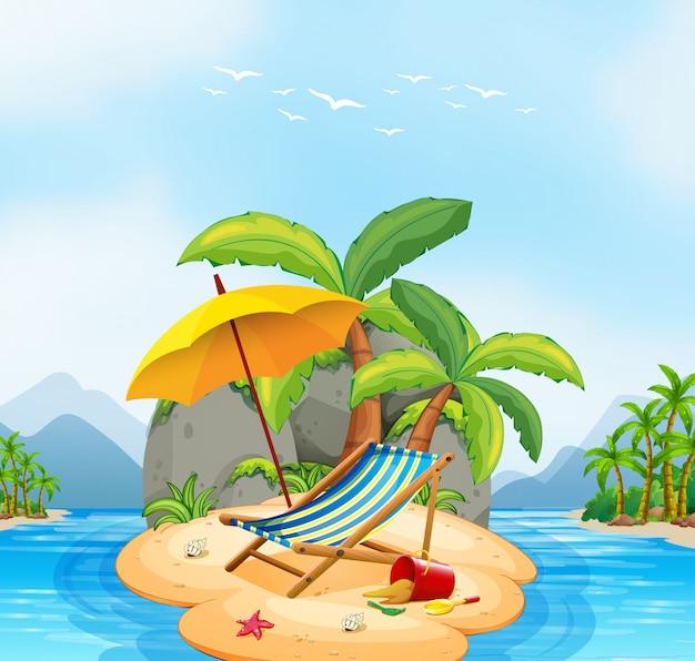 Uma ilha de praia no verão