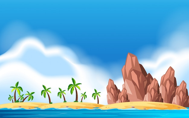 Uma ilha deserta paisagem