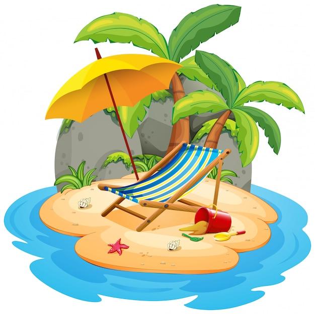 Uma ilha isolada de verão