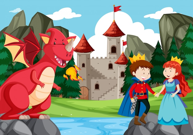Uma ilustração da história de fantasia