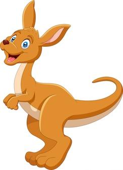 Uma ilustração de canguru bonito dos desenhos animados