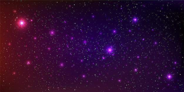 Uma ilustração de galáxia de fundo de alta qualidade com poeira estelar e estrelas brilhantes iluminando o espaço