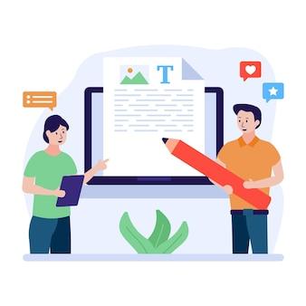 Uma ilustração de seo copywriting premium download