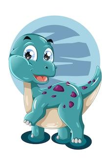 Uma ilustração de um animal bonito do dinossauro tosca