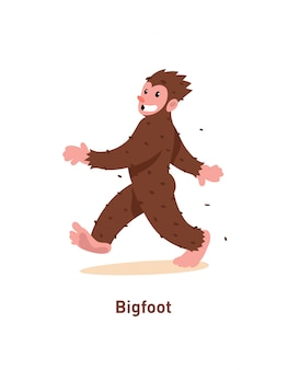 Uma ilustração de um desenho animado bigfoot