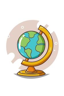 Uma ilustração do globo terrestre