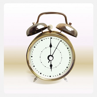 Uma ilustração do vetor para o clássico despertador