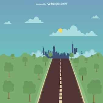 Uma ilustração vetorial estrada
