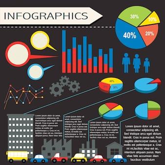 Uma infografia com seres humanos e veículos