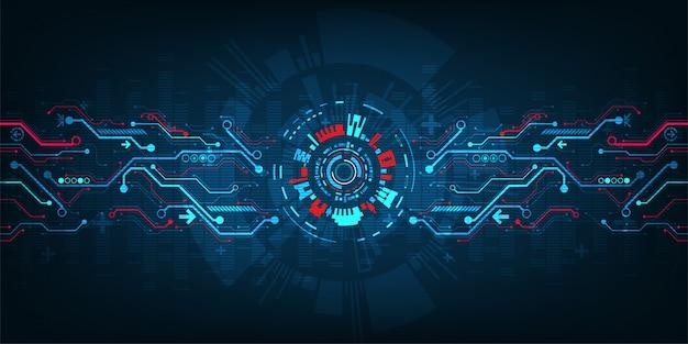 Uma interface que possui conceitos de tecnologia.