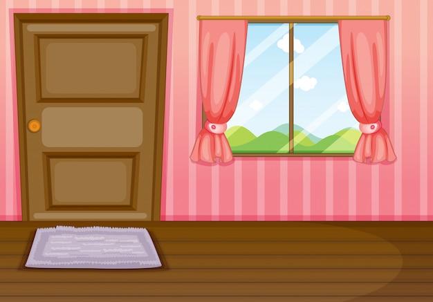 Uma janela e uma porta
