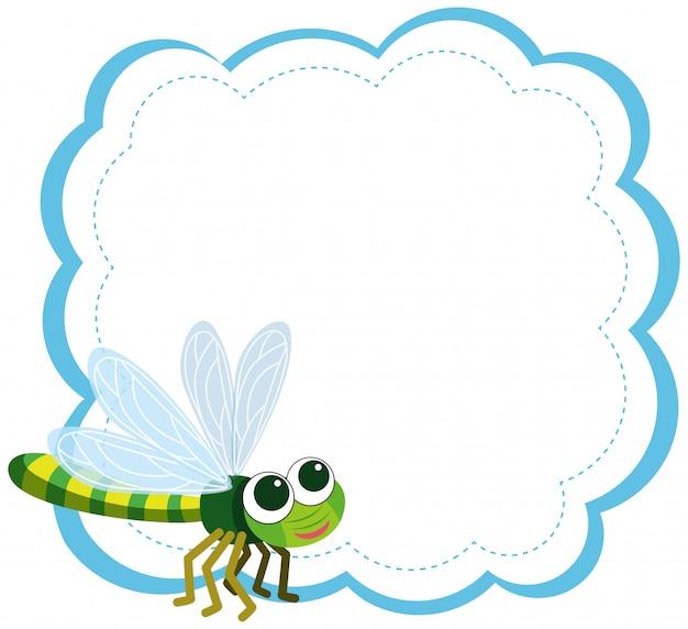 Uma libélula no modelo de nota