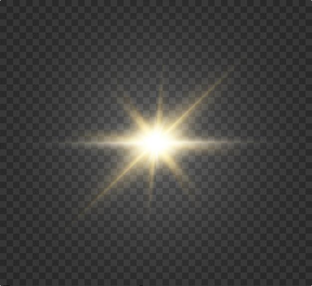 Uma linda luz branca explode em uma explosão transparente. , ilustração brilhante para um efeito perfeito com brilhos. estrela brilhante. brilho gradiente de brilho transparente, flash brilhante.