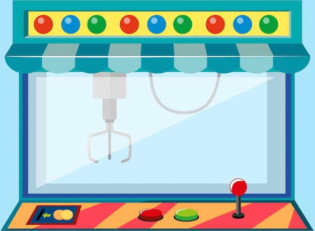 Uma máquina de jogo operada por moedas