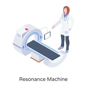 Uma máquina de ressonância no download de vetores isométricos