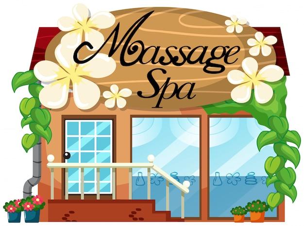 Uma massagem e uma loja de spa