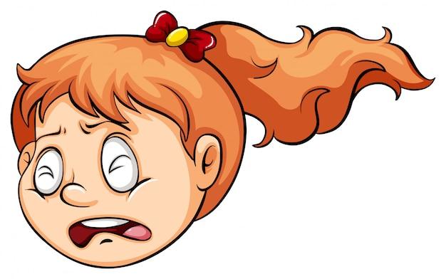 Uma menina chorando