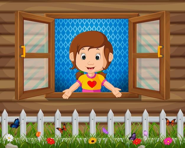 Uma menina na janela