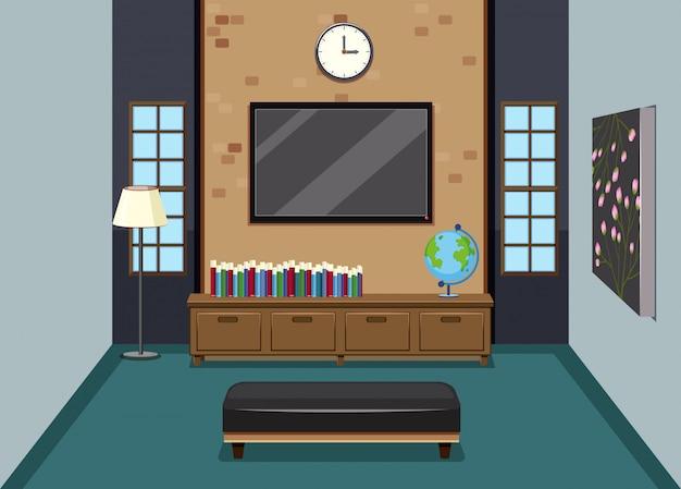 Uma moderna sala de estar