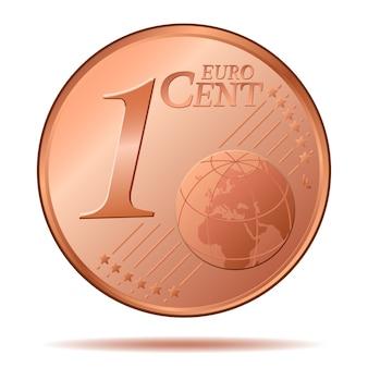 Uma moeda de euro-centavo