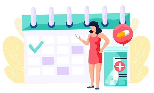 Uma mulher marca uma consulta com um médico online