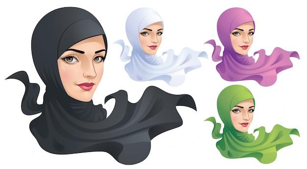 Uma mulher muçulmana com hijab