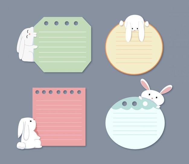Uma nota com coelho