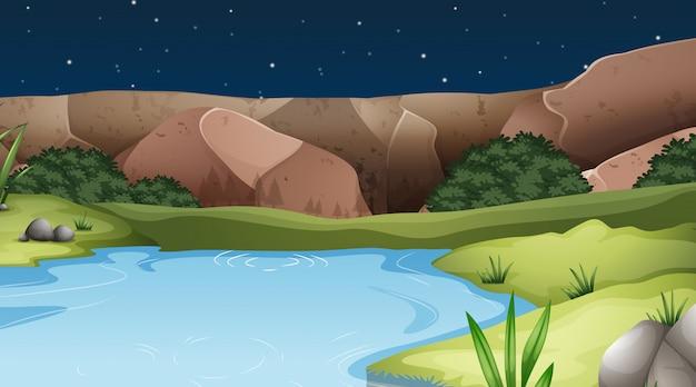 Uma paisagem de natureza da água