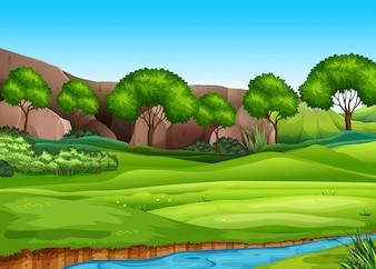Uma paisagem de natureza verde