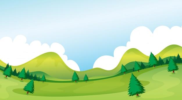 Uma paisagem do parque natural