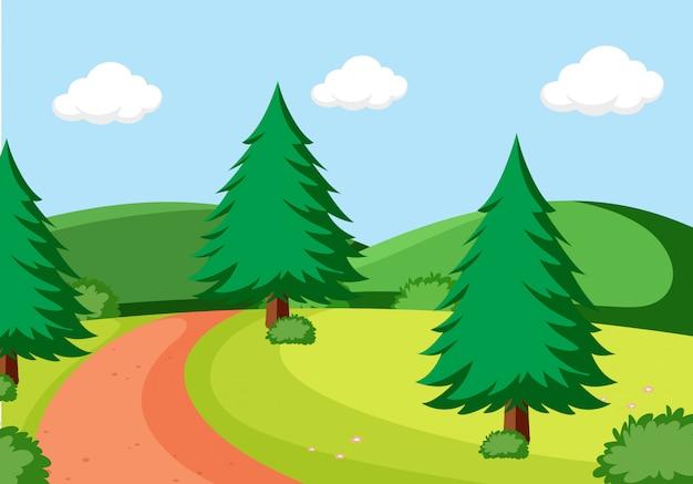 Uma paisagem natural plana