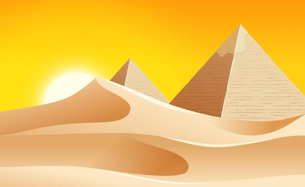 Uma paisagem quente do deserto