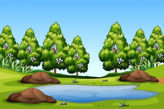 Uma paisagem verde natureza