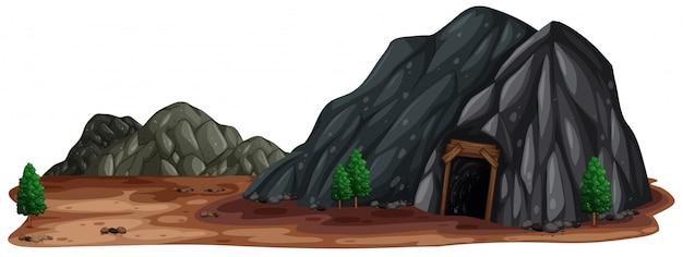 Uma pedra de mina na natureza