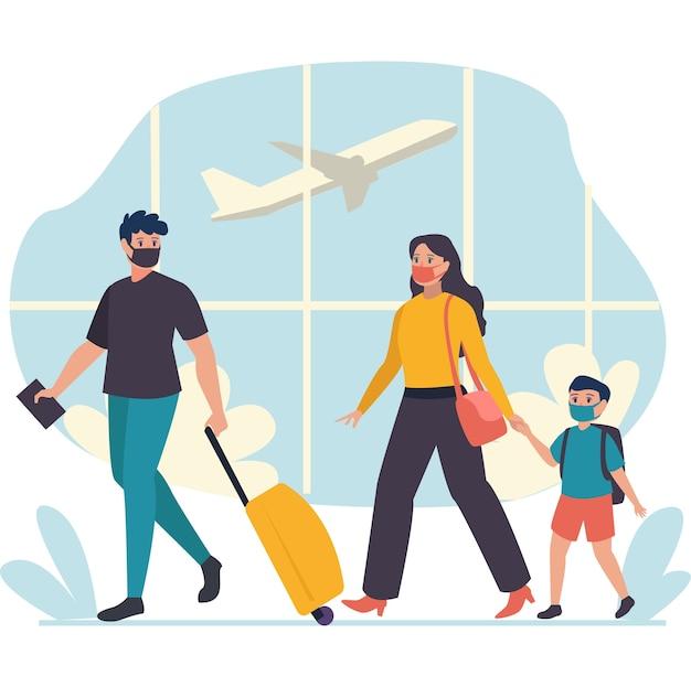 Uma pequena família queria usar o avião como meio de transporte para destinos distantes