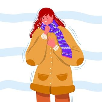 Uma pessoa com um resfriado