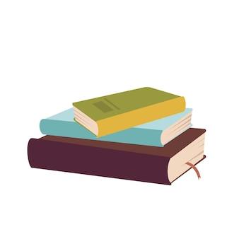 Uma pilha de livros isolada no branco