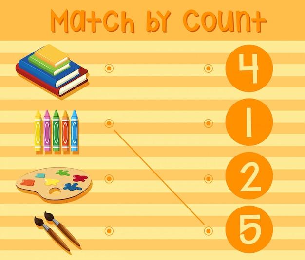 Uma planilha de números matemáticos