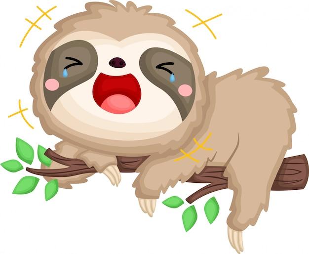 Uma preguiça rindo alto