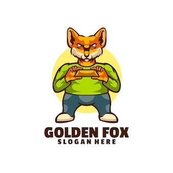 Uma raposa segurando uma barra de ouro.