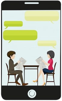 Uma reunião de negócios