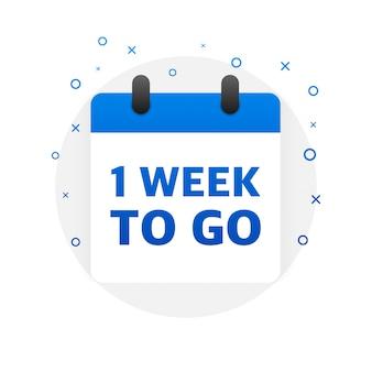Uma semana para ir oferecer. ícone de calendário ilustração.