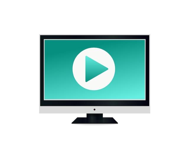 Uma tela de plasma lcd em branco ou uma tv de acordo com o seu design