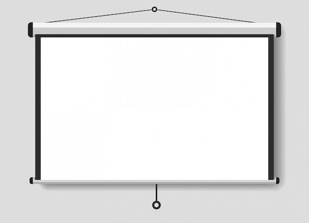 Uma tela projetada para suas apresentações